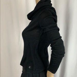 Black silk & Cashmere Chanel Turtleneck